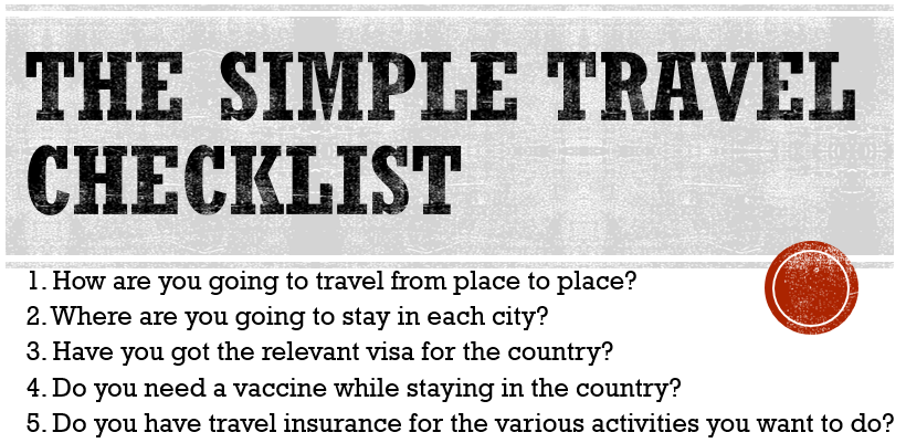 Simple_travel_checklist mini retirement planning